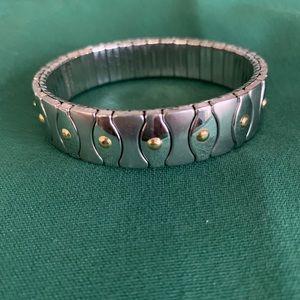 Steel By Design two tone stretch bracelet